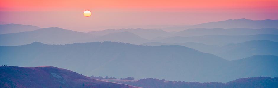 Inspiration - Gebirge im Sonnenuntergang